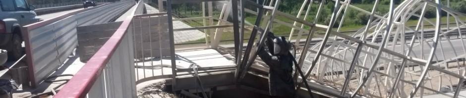 Антикоррозионная защита металлоконструкций мостового схода на трассе Р-256